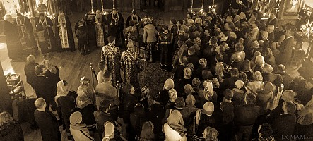Holy Unction before the start of the retreat