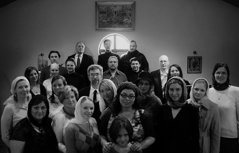 Peter Gudkov with the Holy Virgin Protection Cathedral Choir in Chicago IL