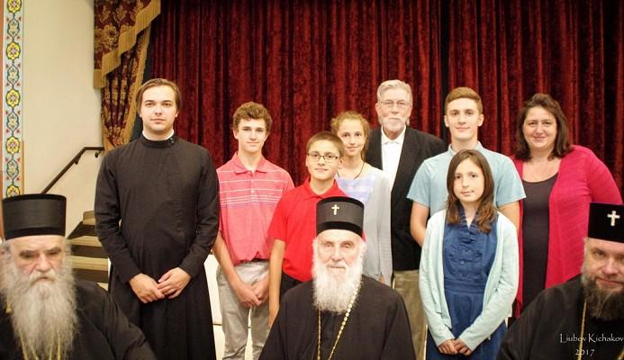 Representatives of ORPR Camp with Partriarch Irinej